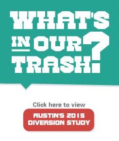 What's in our trash? Click here to view Austin's 2015 Diversion Study